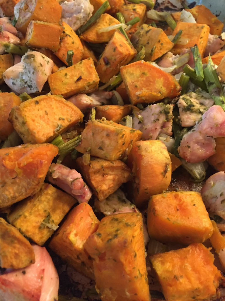Sweet potato and chicken breast